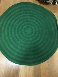 IKEA 圓形地毯 (綠)