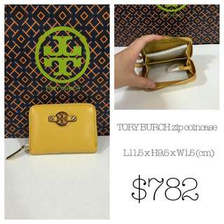 Tory Burch zip-up coin case