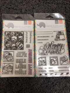 Mama elephant clear stamps