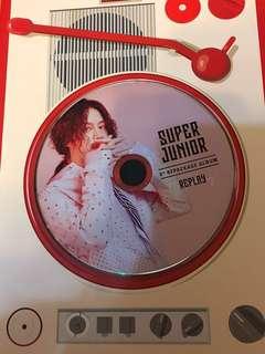 換Super junior replay 希澈淨碟(台特別版)