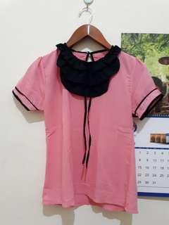 Baju Kerja Pink