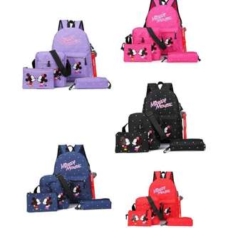 mickey mouse 4in1 back bag