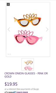 Onion crown crazy funky glasses