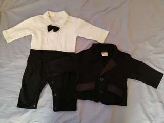 For Sale: Black Suit Romper with Coat.