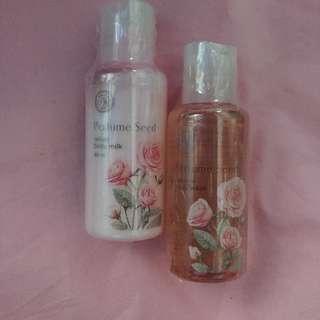 The Face Shop Perfume Seed Set (Velvet Body Milk & Capsule Body Wash)