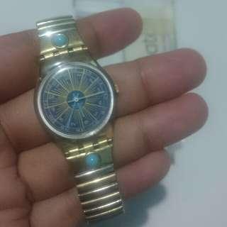 Swatch The Originals GN Gold navy watch