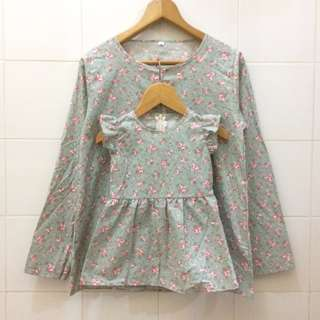 Mini flowly tosca / Baju couple ibu dan anak / couple set mom and baby / family set / baju menyusui