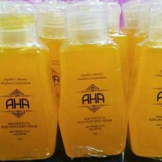 Aha serum and soap by: ayesha