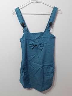 🚚 牛仔藍吊帶洋裝
