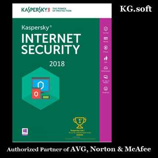 🔥Kaspersky Internet Security 2018 for 1PC 1-year - Genuine product license key🔥