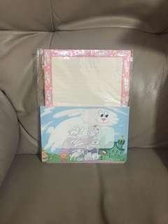 絕版Thunder Bunny信封信紙貼紙套裝