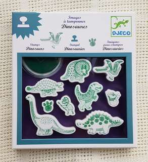 Djeco dinosaur stamps - washable ink