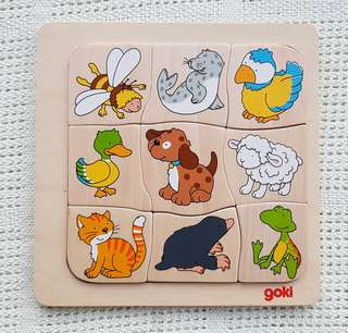 Wooden animal puzzle from Goki