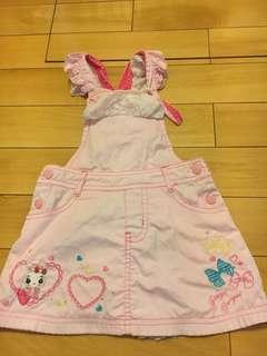 🚚 日本番衣島櫃裙刷毛吊袋裙,90cm,8成新