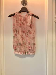 Korea Floral Top