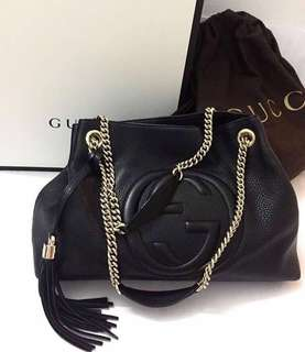 Gucci Soho Tote Bag with Chain Strap