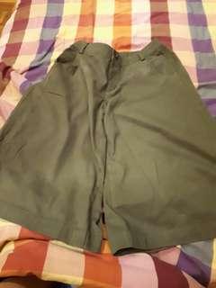 Army green culottes