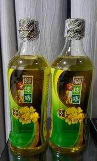 獅球嘜芥花籽油600ml ($40 兩支)