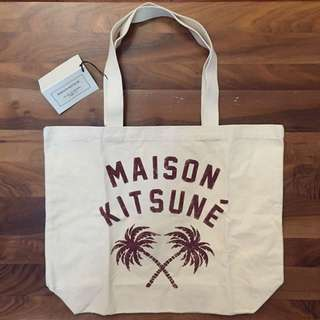 Maison Kitsune Coconut Tree Tote Bag