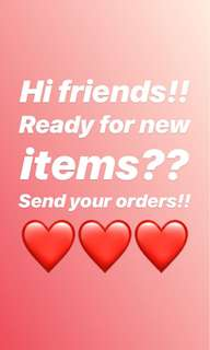 New Items ahead!! ❤️❤️❤️