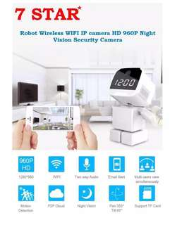 Astronaut/Robot CCTV - Wifi Wireless IP PTZ Cam(HD Resolution/Pan Tilt Zoom 360 Degree/Night Vision/Two-Way Audio/Motion Detection/Loop-Recording/Build in Digital Clock-Time-Date) APP=Yoosee