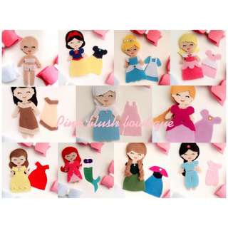 Disney princess dress up felt doll