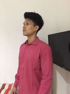 Kemeja Body Fit (pink-shock)
