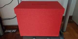 Wedding Ang Bao box Red glitter