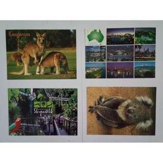Kartu Pos Australia 4pcs