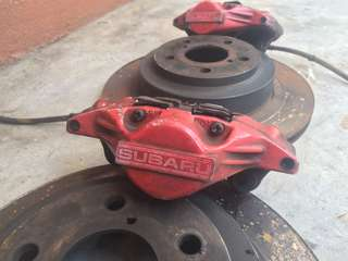 SUBARU rear brake set