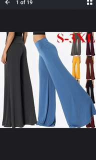 (Blue S in stock). Palazzo pants.PO