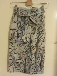 Gorman Mirka Mora Rainbow Pencil Skirt 6