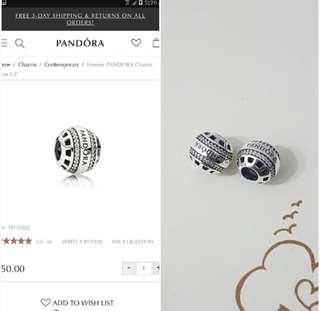 (Pair) Forever Pandora Charm