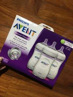 Avent 3pcs natural 9oz bottle