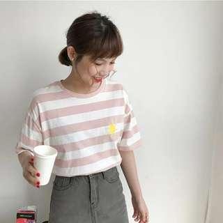 🚚 📣特價 可愛少女風天氣刺繡短袖T恤♡預購♡
