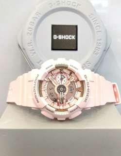 * FREE DELIVERY * Brand New 100% Authentic Casio GShock Mini Rose Gold G Shock for Ladies G-Shock GMAS-110MP-4A1DR