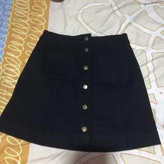 H&M Buttondown Denim Skirt