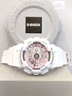* FREE DELIVERY * Brand New 100% Authentic Casio GShock Mini White & Pink Dial G Shock For Ladies G-Shock GMAS-110MP-7ADR