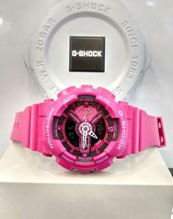 * FREE DELIVERY * Brand New 100% Authentic Casio GShock Mini Neon Pink G Shock for Ladies G-Shock GMAS-110MP-4A3DR