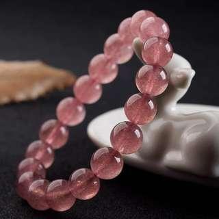 草莓晶水晶手鏈