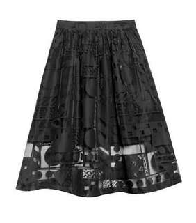 Gorman Walala POP Black Midi Skirt 6
