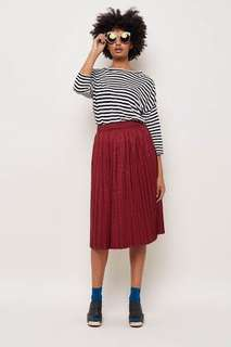 Gorman Crush On You Midi Skirt in Wine colour Sz 6