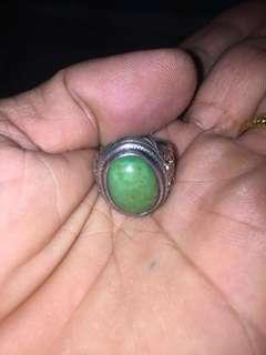 老银绿松石戒指(清朝)