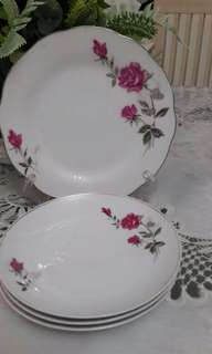 Plate and Saucer Roses
