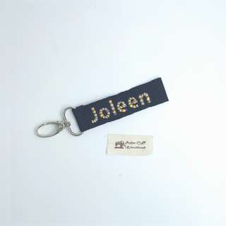 Key Tag - Embroidery Rainbow Initial