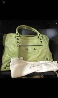Authentic Balenciaga lime green