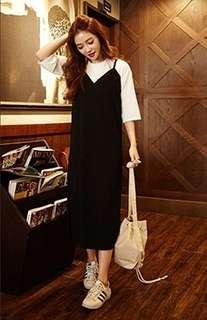 Black Slip Dress from Korea (LIKE NEW!)