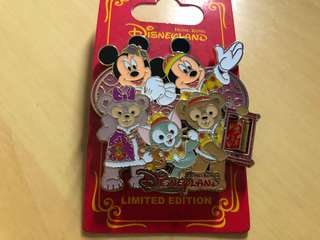 Disney pin 迪士尼徽章 LE500 mickey duffy chinese new year