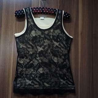 Michael Kors Black Lace Tank Top