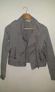 Gray Cotton On biker jacket